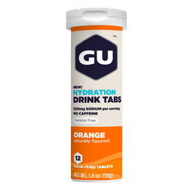 GU Energy Hydration Drink Tabs 12 Pieces, Orange